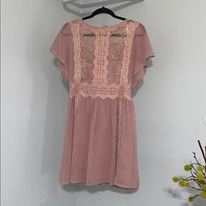 Embroidery Sheer Dress